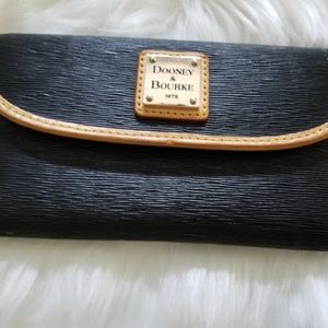 Dooney & Bourke Navy Ribbed Wallet